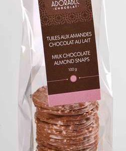 TUILES AMANDES CHOCOLAT AU LAIT