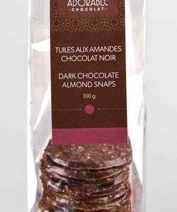 TUILES AMANDES ET CHOCOLAT NOIR
